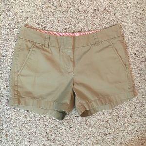 J Crew khaki chino shorts